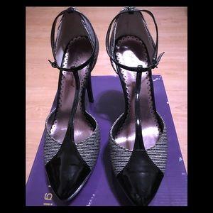 Lulu Townsend Black Strappy  Stilettos Heels